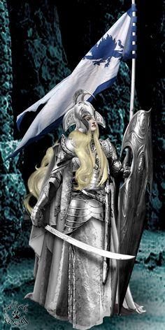 Silver elf maid by Blackwolf-studio on deviant art.