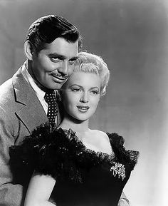 "Clark Gable & Lana Turner in ""Honky Tonk"""