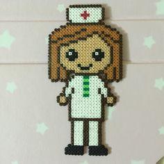 Mini Hama beads Nurse