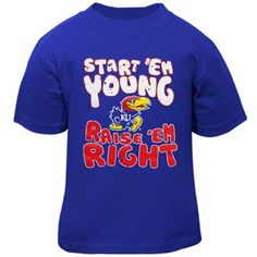 Kansas Jayhawks Toddler Start 'Em Young T-Shirt - Royal Blue