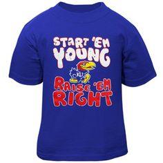 Kansas Jayhawks Toddler Start 'Em Young T-Shirt - Royal Blue