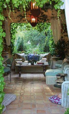 Elegant country garden with pergola in California • designer: Margie Grace / Grace Design Associates