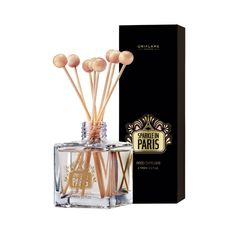 Sparkle in Paris Reed Diffuser.   Escape to the jovial boulevards of Paris while still at home. Indulge in a modern blend of sparkling Champagne, Sandalwood and Orange Petals that permeates your space with a woody floral scent, transporting you to the sparkling City of Lights.