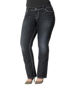 Look at this #zulilyfind! Dark Indigo Natsuki Flap Pocket Jeans - Women & Plus by Silver Jeans Co. #zulilyfinds