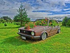 vw golf flowers