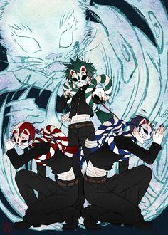 Boku no Hero Academia    Todoroki Shouto, Midoriya Izuku, Tenya Iida.