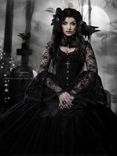 images of Gothic fashion | Photo art by Brandenberg , courtesy of Gothic Fashion Tumblr