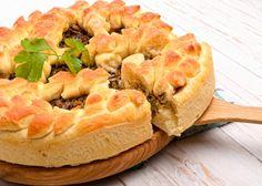 Πίτα με κάστανα και μανιτάρια