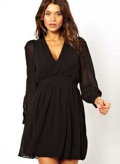 Black Day Dress - Bqueen Deep V Cross Halter