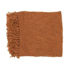 """Surya TOB1007-5171 51"""" X 71"""" Indoor Throw Blanket From The Tobias ($60) ❤ liked on Polyvore featuring home, bed & bath, bedding, blankets, filler, home decor, orange, throw blankets, throws and orange blanket"""