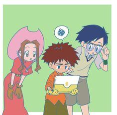 Digimon Mimi,Izzy and Joe Digimon Adventure 02, Digimon Frontier, Digimon Tamers, Fanart, Digimon Digital Monsters, All Art, Pokemon, Geek Stuff, Manga