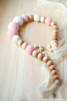 Crochet organic cotton teething romantic Nursing от kangarusha