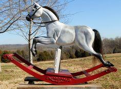 rocking horse by MikesRockingHorses on Etsy, $2500.00