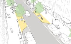 Pinchpoints explained and illustrated in the NATCO Urban Street Design Guide. Click image for source.Click on image for details, and visit the Slow Ottawa 'Streets for Everyone' Pinterest board for more of these superb illustrations.