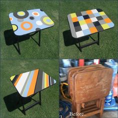I found free tv trays.. So I painted them and they are like new! =]