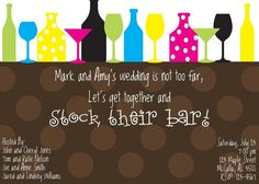 Stock the Bar Party! If only I had thought of this a year ago... genius.