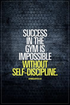 Success in the gym is impossible without self-discipline. #selfdiscipline is truly everything when it comes to success in the gym and outside of it. #bedisciplined #trainharder #nopainnogain #gymquotes