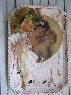 Shabby Chic Hearts, Romantic Shabby Chic, Shabby Chic Cottage, Shabby Chic Decor, Distressing Chalk Paint, Feminine Decor, Etsy Vintage, Vintage Art, Vintage Items