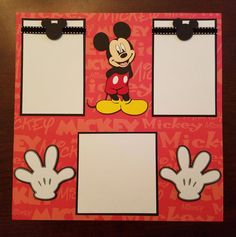 Mickey Mouse & Pluto 2 Page Premade Scrapbook Layout Disneyland Disney Scrapbook Layout ft. Mickey Mouse & Pluto 2 Page Ideas Scrapbook, Cruise Scrapbook, Scrapbook Cover, Disney Scrapbook Pages, Scrapbook Titles, Birthday Scrapbook, Scrapbook Page Layouts, Baby Scrapbook, Scrapbook Journal