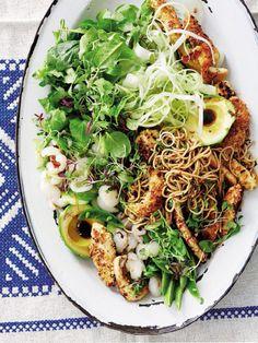 #chicken and #litchi #salad