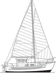http://fisheryachts.com/fisher_25/ Fisher 25 Sail Plan