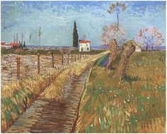 Path Through a Field with Willows by Vincent van Gogh Painting, Oil on Canvas Arles: April, 1888