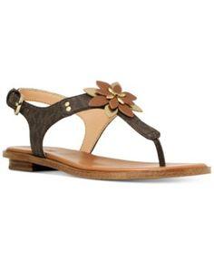 973570fbba77 MICHAEL Michael Kors Heidi Flat Thong Sandals Shoes - Sandals   Flip Flops  - Macy s