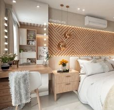 15 1 cool rose gold home decor accessories Home Bedroom, Bedroom Decor, Master Bedrooms, Bedroom Ideas, Bedroom Mirrors, Mirror Headboard, Wooden Bedroom, Wood Headboard, Bedroom Lighting