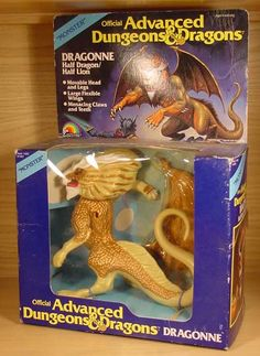 Advanced Dungeons and Dragons boxed toys 1980s Toys, Retro Toys, Vintage Toys, Retro Vintage, Dungeons And Dragons Figures, Advanced Dungeons And Dragons, Dragon Half, Pen And Paper Games, Creepy Toys