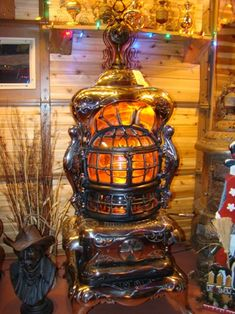 Antique Stove  Rusty Iron Ranch - Antique Stoves  Round Oak Baseburner