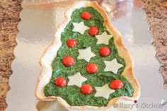 Christmas Tree Tart with Spinach