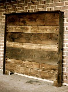 Upcycled Barn Wood Headboard by hammerandpaint on Etsy