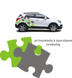 "30 Autoaufkleber Car Tuning ""Puzzle"" 2 Farben Farbe nach Wunsch • EUR 36,00 • PicClick DE"