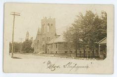 RPPC Methodist Church KANE PA McKean County Pennsylvania Real Photo Postcard 2