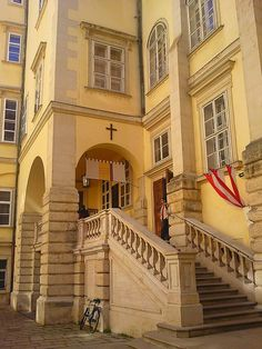 Exterior of chapel where Vienna Boys Choir perform: Our tips for things to do in Vienna: http://www.europealacarte.co.uk/blog/2010/07/28/the-best-of-vienna-travel-tips/