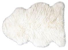 2'x3' Natural Sheepskin, Ivory   Home on the Range   One Kings Lane