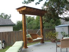swing pergolas - Google Search....instead of the swing i will just make frame for deck side entrance.....