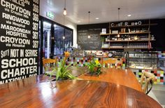 fit out to Chapter Too cafe in Melbourne by Studio Equator