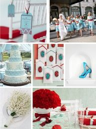 4th of July Wedding with Tiffany Blue and Red, this would be adorable!!