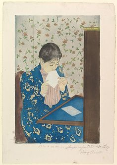 Mary Cassatt (American, 1844–1926). The Letter, 1890–91. The Metropolitan Museum of Art, New York. Gift of Paul J. Sachs, 1916 (16.2.9) #letters #Connections