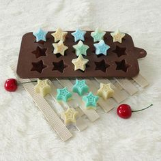 1× 15 Stars Silicone Mould Mold Cake Chocolate Candy Ice Soap Jelly Cupcake Tray #Unbranded