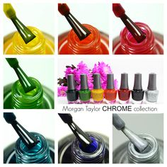 Morgan Taylor CHROME Collection | Review & Nail Art Manicures http://www.lucysstash.com/2016/01/morgan-taylor-chrome-collection-review-nail-art-manicures.html