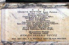 """Sir Isaac Newton - English physicist and mathematician (described in his own day as a """"natural philosopher"""") who is widely recognised as one of the most influential scientists of all time and a key figure in the scientific revolution."""
