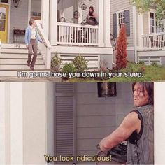"""The Walking Dead """"Remember"""" Daryl and Carol Walking Dead Tv Series, Walking Dead Funny, Walking Dead Zombies, Walking Dead Season, Fear The Walking Dead, Daryl And Carol, Twd Memes, Daryl Dixon, Norman Reedus"""