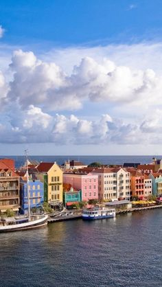 Spanish architecture, Curacao, City, Landscape. This was out view on the cruise. Such a beautiful city.