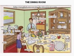 English for beginners: The Dining Room Repinned by Chesapeake College Adult Ed. We offer free classes on the Eastern Shore of MD to help you earn your GED - H.S. Diploma or Learn English (ESL). www.Chesapeake.edu