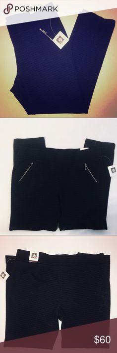 Anne Klein business casual pants size XL Beautiful Anne Klein business casual slacks, color is black & mystic blue, NWT Anne Klein Pants Trousers