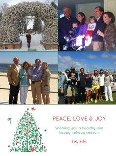peace, love & joy holiday card