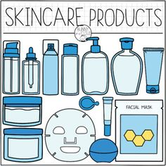 Skin Care Products by Bunny On A Cloud Cute Food Drawings, Cute Kawaii Drawings, Art Drawings Sketches Simple, Paper Doll House, Paper Dolls Book, Bullet Journal Books, Book Journal, Doll Crafts, Paper Crafts