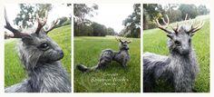 Stag Mist Spirit -Handcrafted- Rhiannon Woolf by RhiannonWoolf
